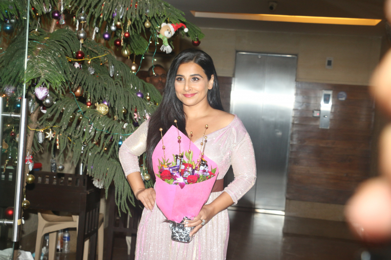 Actress Vidya Balan celebrates her birthday.