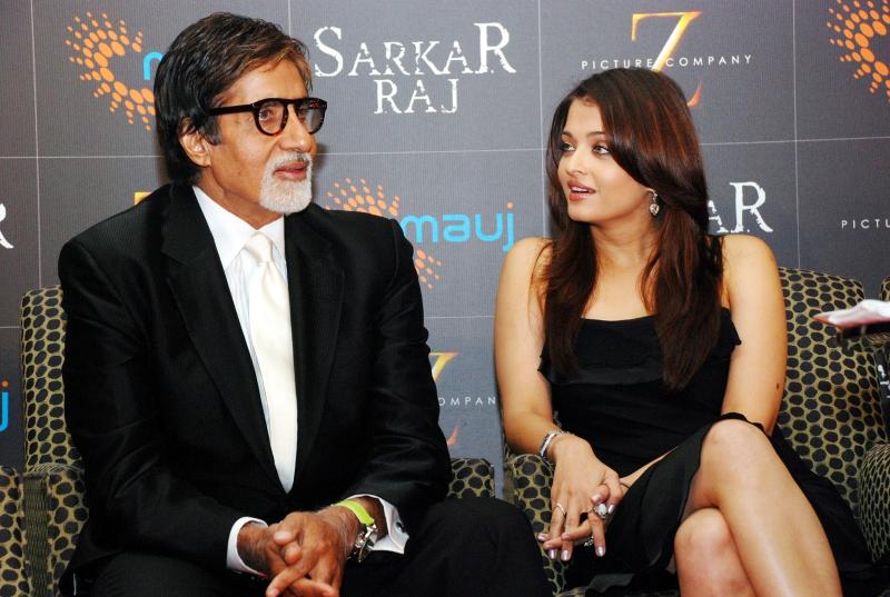 Aishwarya Rai and Amitabh Bachchan Photo
