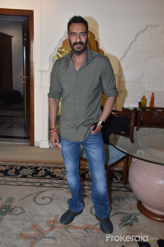 Ajay Devgan for the media interactions of Total Dhamaal at sun n sand juhu