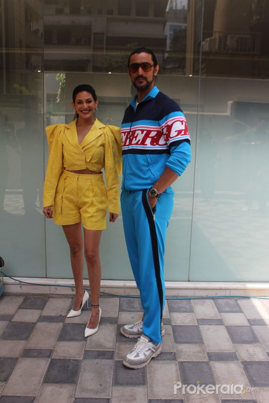 Amyra Dastur and Kunal Kapoor Spotted At T Series Office