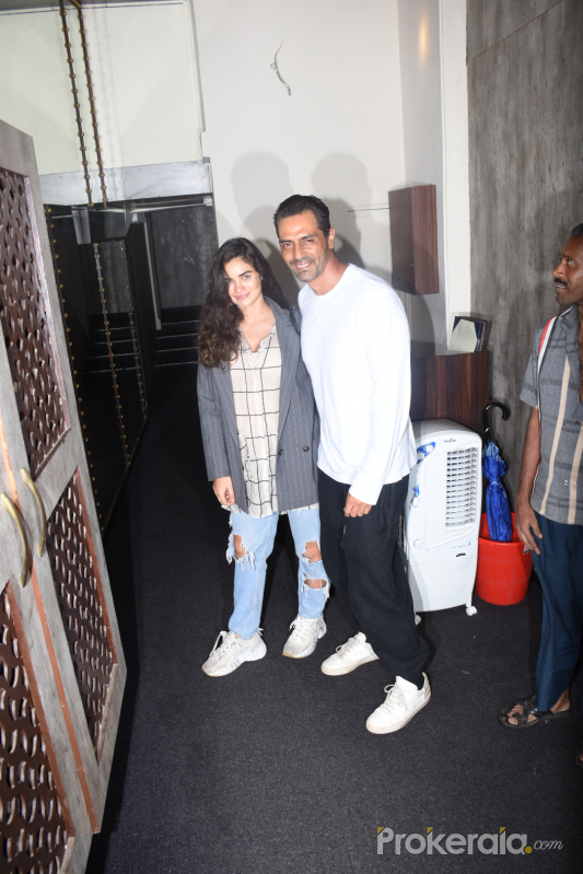 Arjun Rampal and Gabriella spotted at bastian bandra