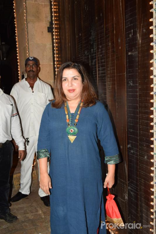 Farah Khan celebrate Karva chauth at Anil Kapoor's house in juhu