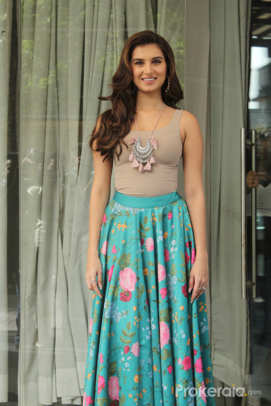 Actress Tara Sutaria spotted Promoting her Film Marjaavaan
