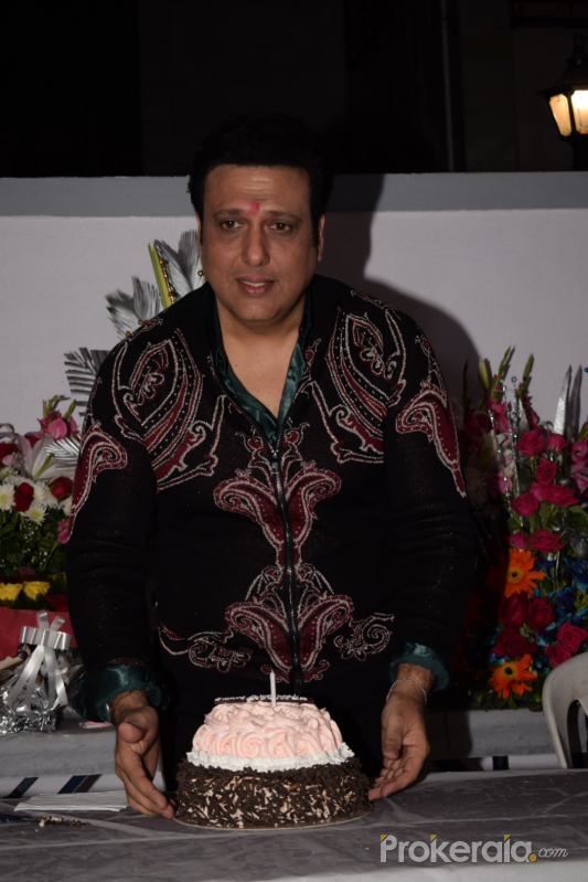 Govinda Celebrate His Birthday With Media