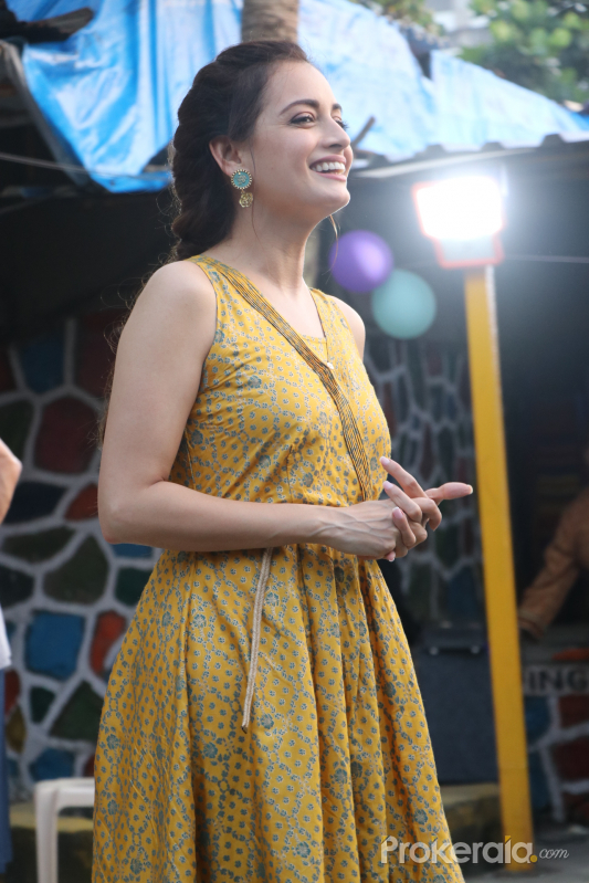 Actress Dia Mirza During The Launch Of Social Initiative 'Exceed Cares'