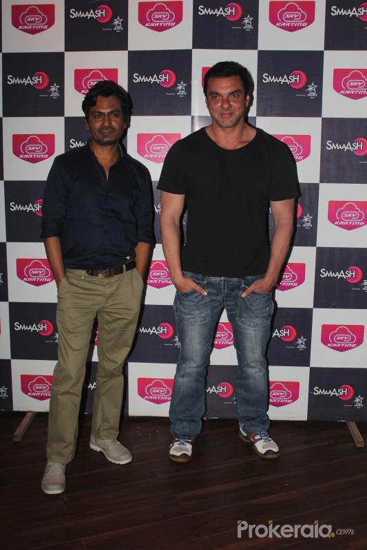 Nawazuddin Siddiqui and Sohail Khan During the promotion of film Freaky Ali