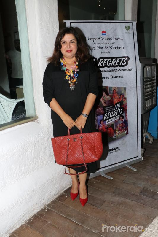 Actress Farah Khan at the book launch of  'No Regrets'