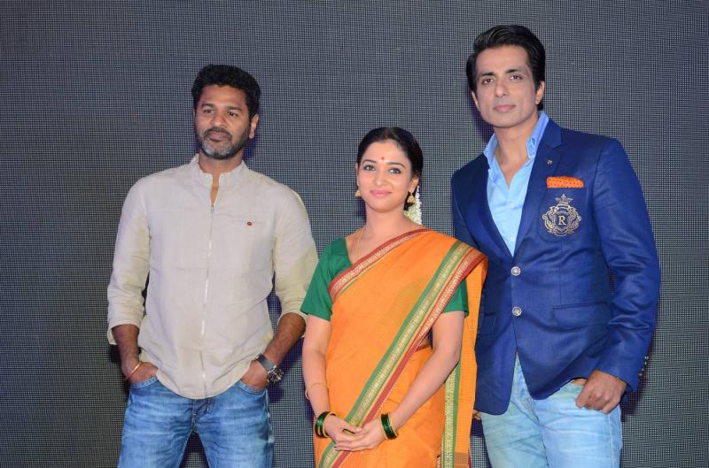 Prabhu Deva, Tamanna and Sonu Sood  - First Look Launch set
