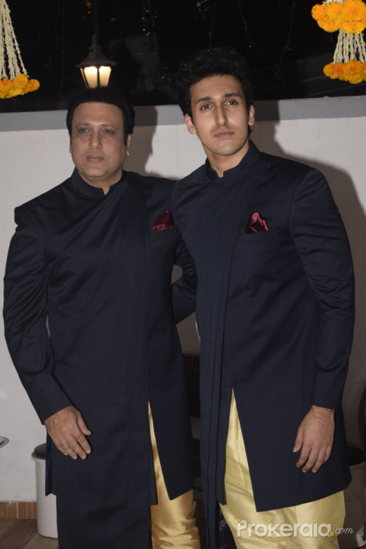 Govinda celebrates Diwali with his family at his juhu home