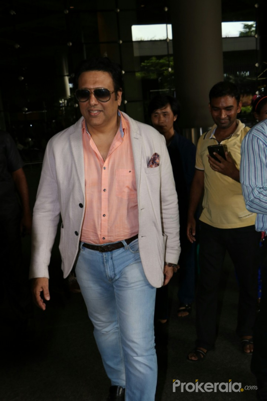 Govinda Spotted At Airport