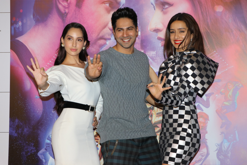 Hindi Movie Street Dancer Trailer Launch Photo.