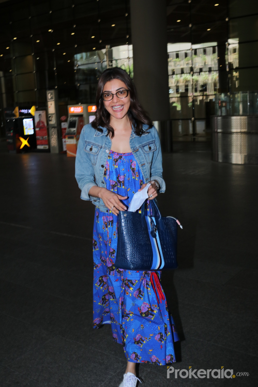 Kajal Aggarwal Spotted At Airport Arrival