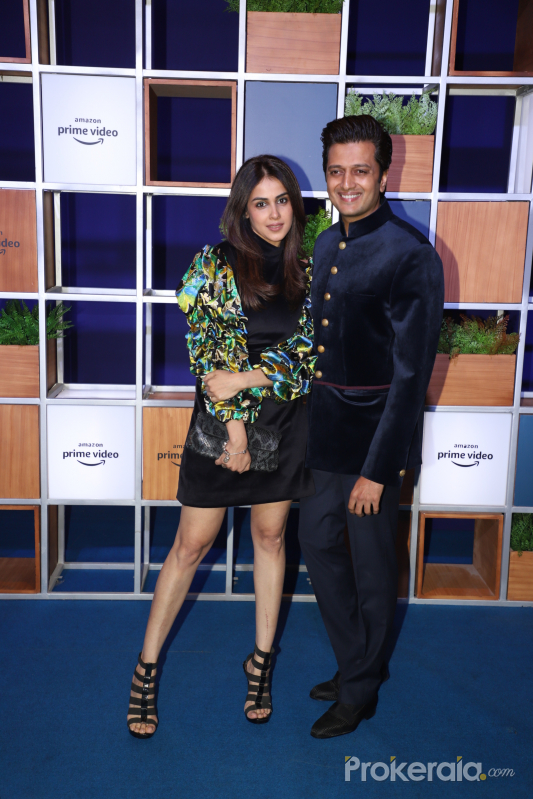 Actor Ritesh Deshmukh and Genelia D Souza attended Jeff Bezos Welcome Bash.