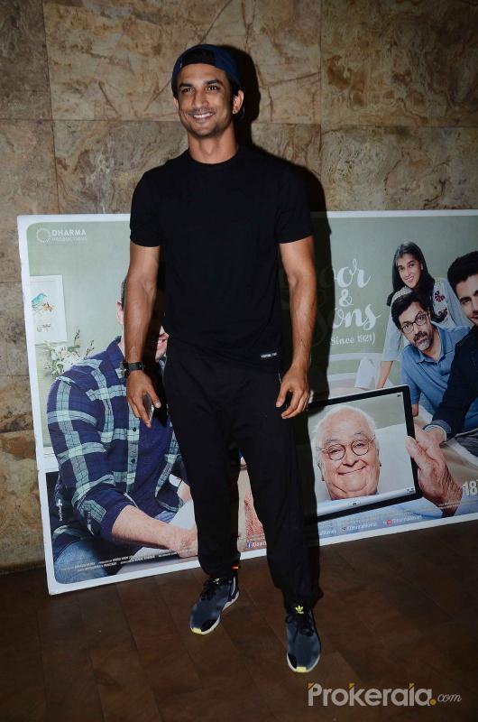 Sushant Singh Rajput at Kapoor and Son screening