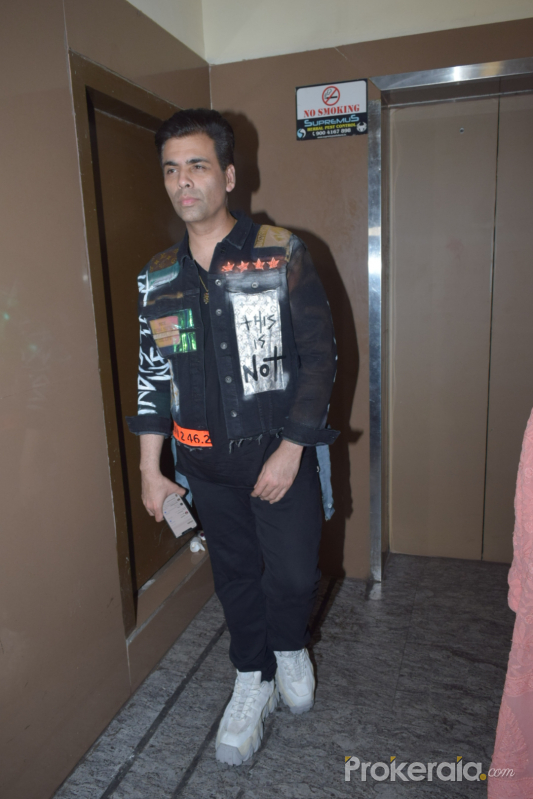 Karan Johar  of film Good Newwz at pvr juhu - photos
