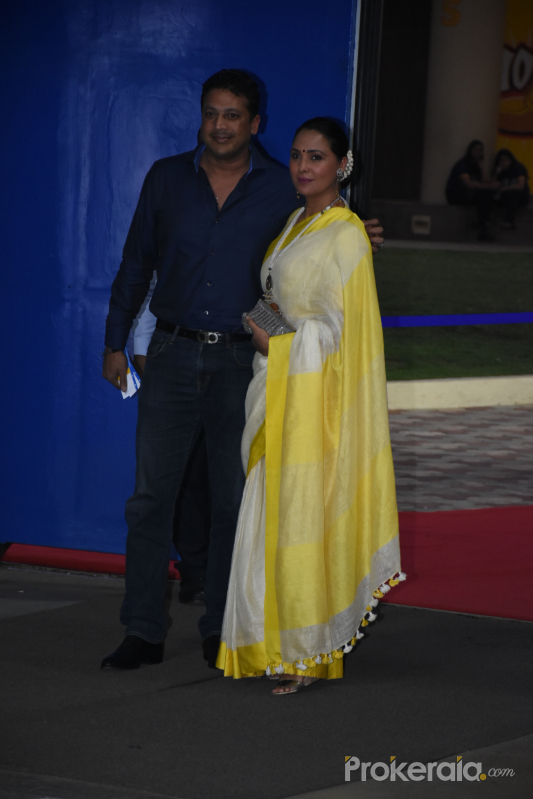 Lara Dutta and husband at the annual day function of Dhirubhai Ambani International School.