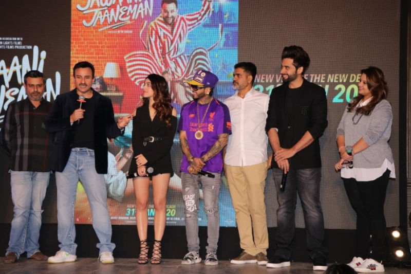 Launch of the Song Ole Ole with the whole cast from the movie Jawaani Jaaneman.