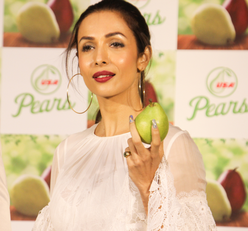 Actress Malaika Arora  the Promotion of US Pears at Fourseasons hotel in mumbai.