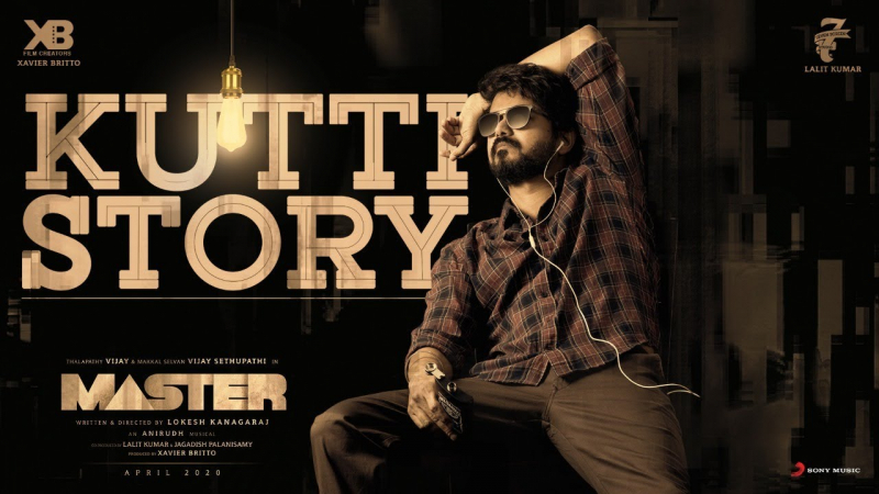 Master Movie song oru kutty katha Releasing Poster