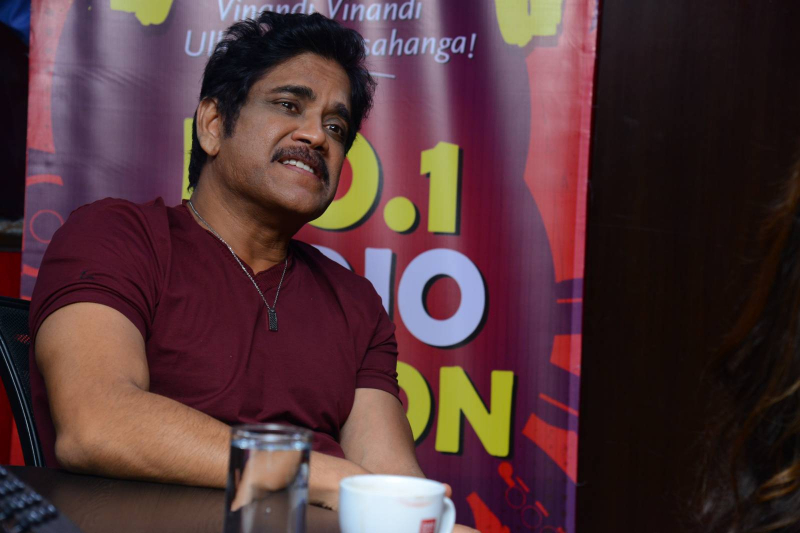 Nagarjuna  at Red FM For Manmadhudu 2 Second Single Launch