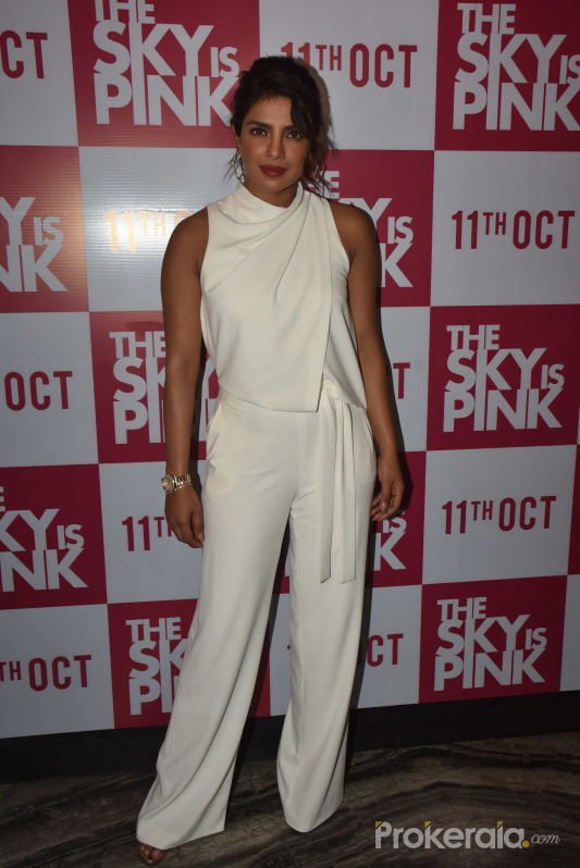 Priyanka Chopra at The Sky is Pink party at Escobar bandra