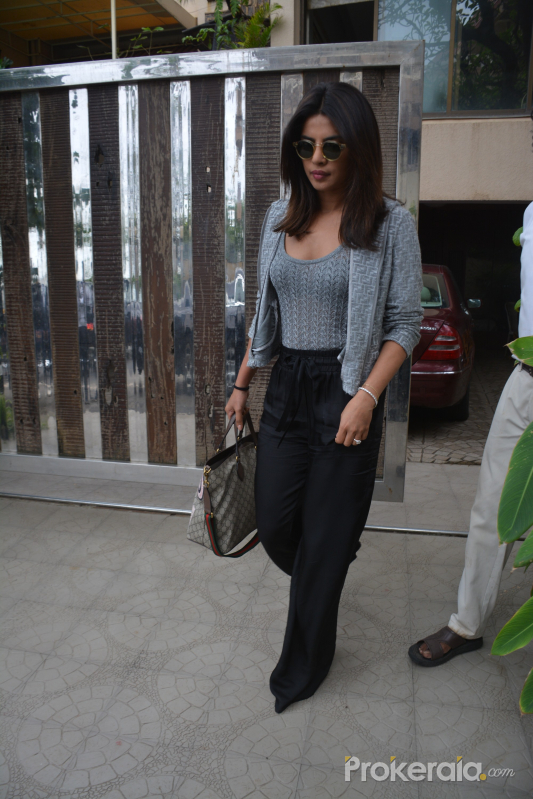 Priyanka Chopra spotted at a clinic in bandra