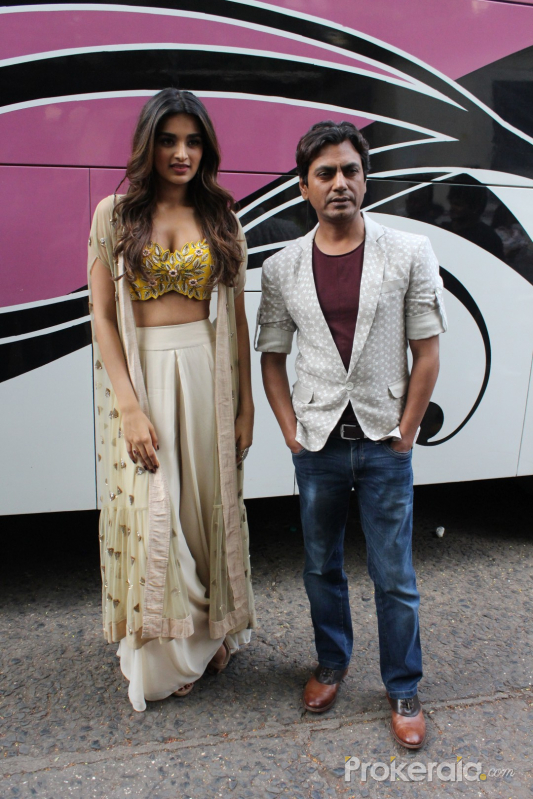 promoting Munna Micheal at Filmistaan