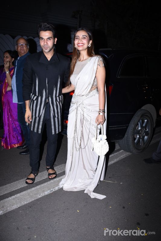 Rajkummar Rao and Patralekha Paul at actor Amitabh Bachchan's Diwali party