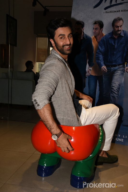 Ranbir Kapoo  during the promotions of thier film Sanju