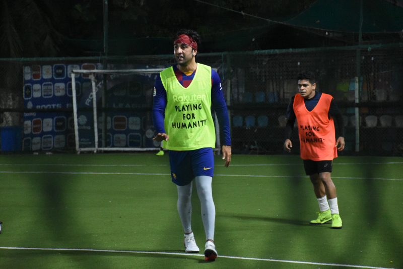 Ranbir Kapoor spotted at football ground in bandra
