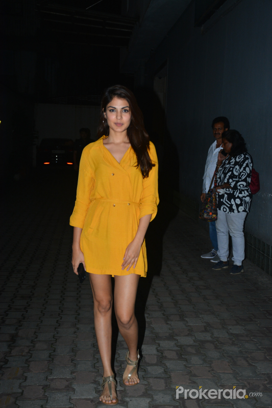 Rhea Chakraborty spotted at vishesh films office