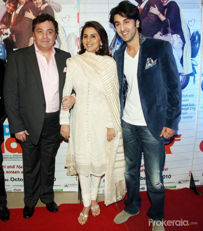 Rishi Kapoor, Neetu Kapoor and Ranbir Kapoor Photo
