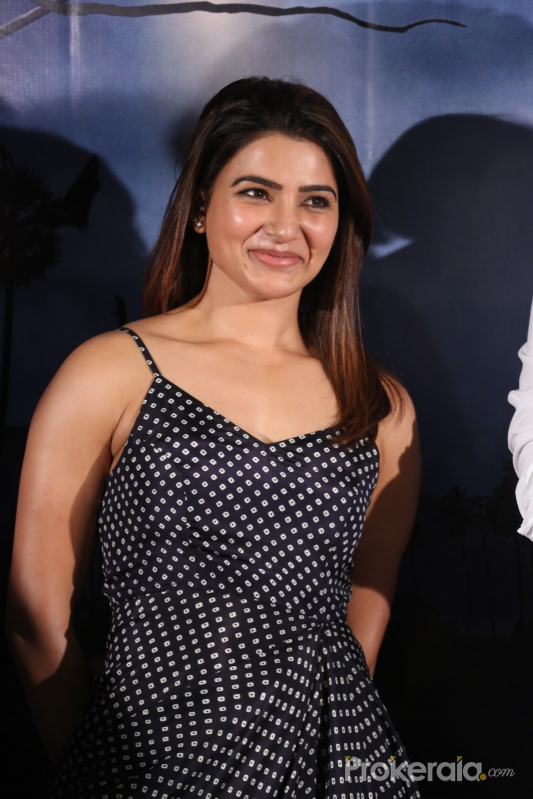 Samantha Akkineni	new cute pic from Zombie Reddy Teaser Launch Function