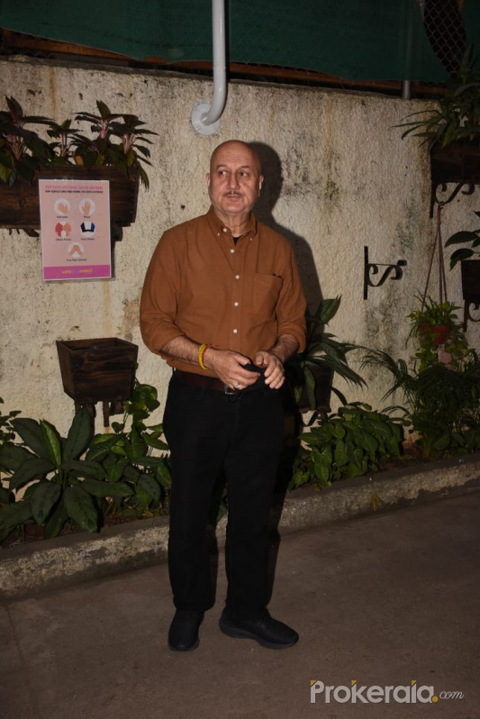 Anupam Kher join Screening Of Film Kaagaz At Sunny Super Sound Juhu