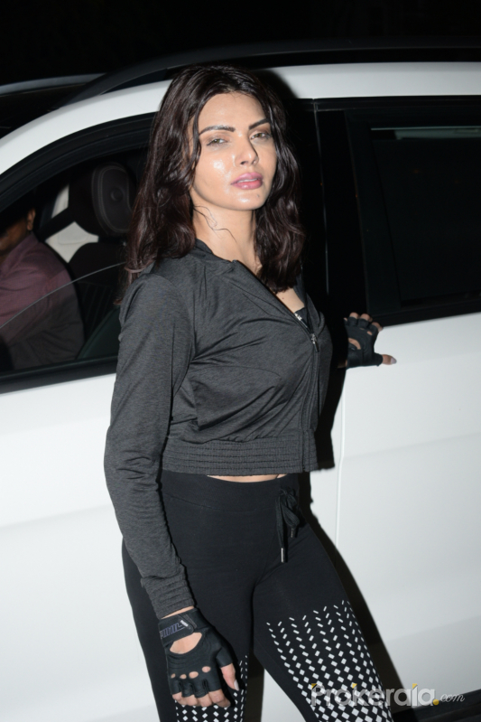 Sherlyn Chopra spotted at gym in juhu