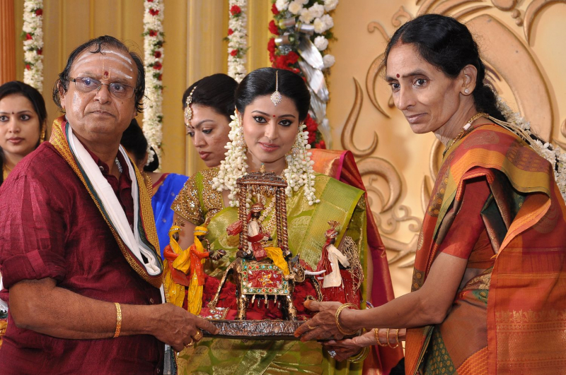 Tamil Actress Sneha S Wedding Engagement Reception Photos