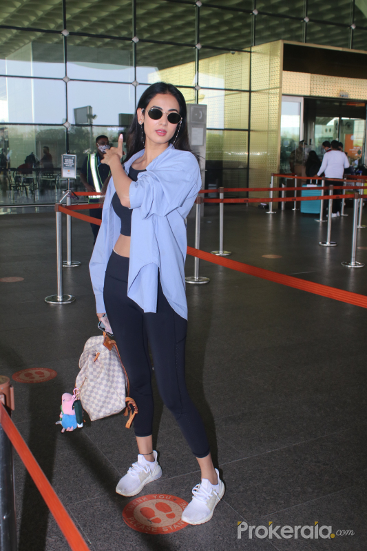 Sonal Chauhan Spotted At Airport Departure