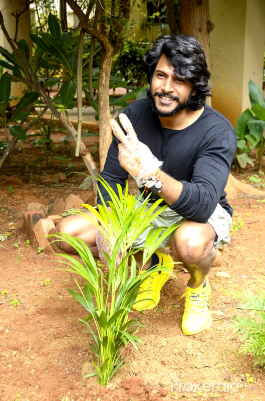 Sundeep Kishan  hero who planted trees as part of the Green India Challenge