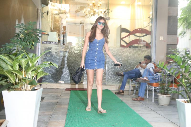 Tara Sutaria seen at bandra