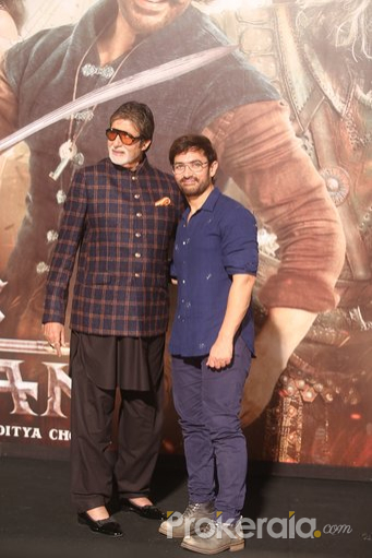 Trailer launch of film Thugs of Hindustan at Imax Wadala