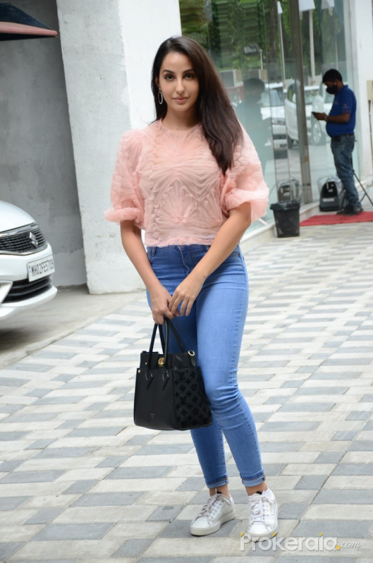 Nora Fatehi Spotted At Tseries Office In Andheri