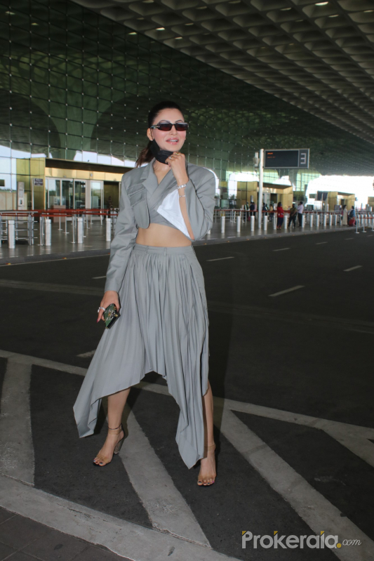 Urvashi Rautela Spotted At Airport Departure