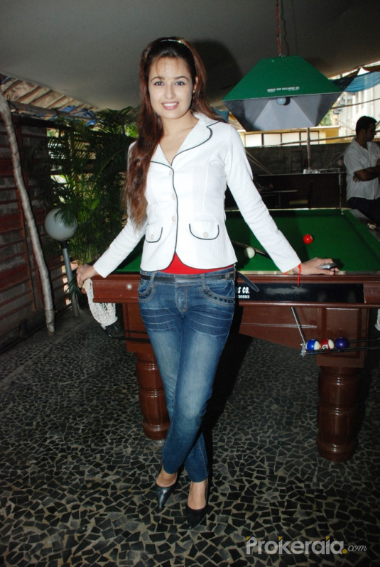 Yuvika Chaudhary at the Press Conference of International Premier Wrestling Championships held at Marimba, Andheri on 14th Sep, 2010