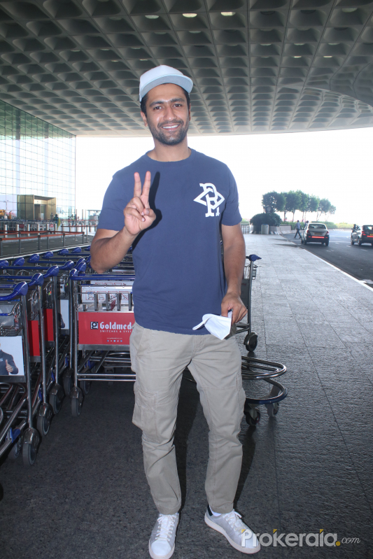 Vicky Kaushal Spotted At Airport Departure