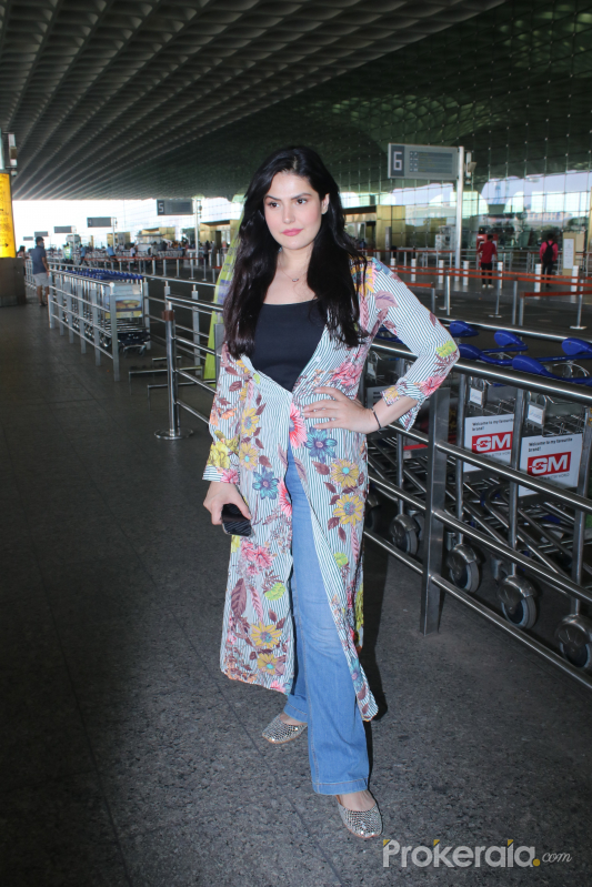 Zareen Khan Spotted At Airport Departure