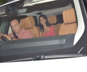 Actress  Katrina Kaif spotted Arti Shetty's house juhu.