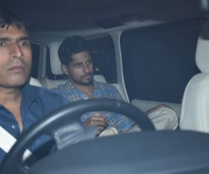 Actor Siddharth Malhotra seen  at Karan Johar's house in bandra