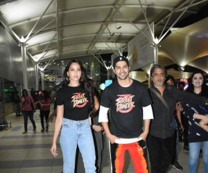 Actor Varun Dhawan and Nora Fatehi spotted at airport.