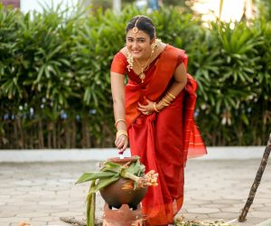 100 Percent Kaadhal Team Celebrated Pongal in the Sets