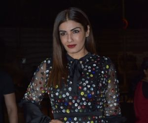 ​ Actress Raveena Tandon during the launch of fashion designer Ana Singh's Christian art collection